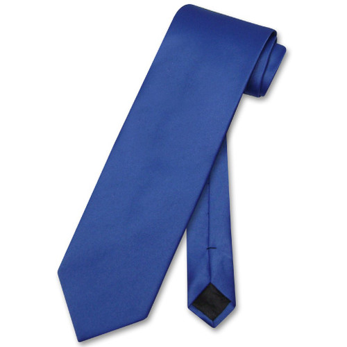 Royal Blue Mens NeckTie | Vesuvio Napoli Solid Color Mens Neck Tie