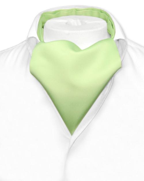 Lime Green Cravat Tie   Vesuvio Napoli Mens Solid Color Ascot Tie