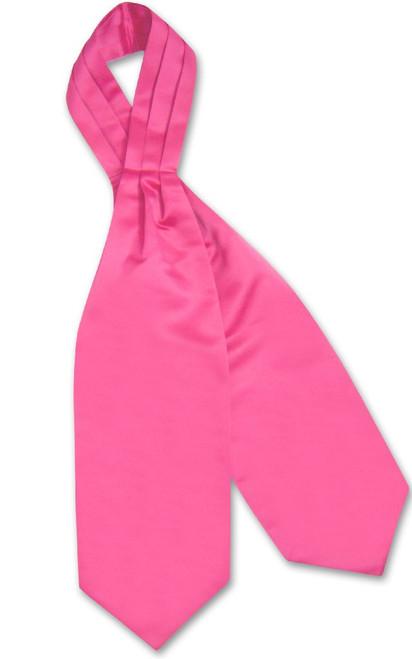 Hot Pink Fuchsia Cravat Tie | Vesuvio Napoli Mens Solid Color Ascot