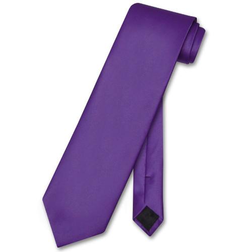 Purple Indigo Mens NeckTie | Vesuvio Napoli Solid Color Neck Tie