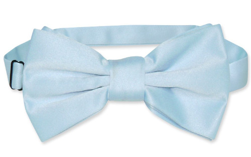 Vesuvio Napoli BowTie Solid Baby Blue Color Mens Bow Tie