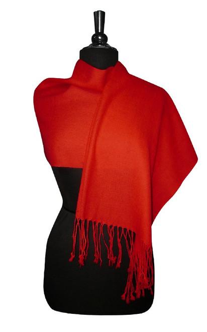 Red Pashmina   Biagio 100% Wool Pashmina Scarf
