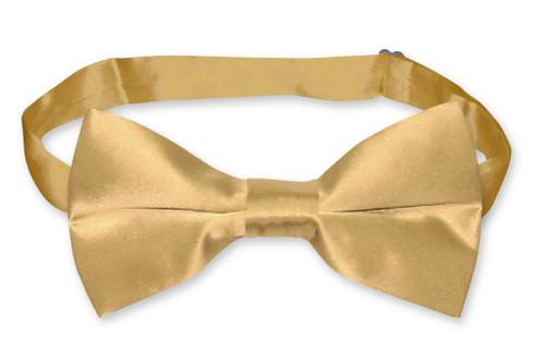 Gold Color Mens Bowtie | Biagio Silk Pre Tied Solid Color Bow Tie