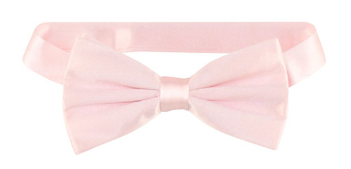 Solid Pink Colored Mens BowTie   Mens 100% Silk Pre Tied Bow Ties