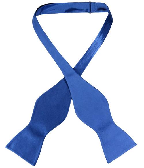 Biagio Self Tie Bow Tie Solid Royal Blue Color Mens BowTie