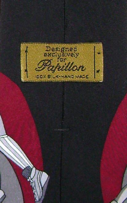 Papillon 100% Silk NeckTie Football Design Mens Neck Tie #124-3