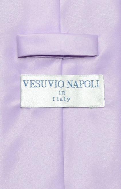 Lavender Purple Mens NeckTie | Vesuvio Napoli Solid Color Neck Tie