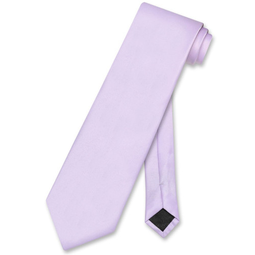 Lavender Purple Mens NeckTie | Vesuvio Napoli Solid Color Neck Tie