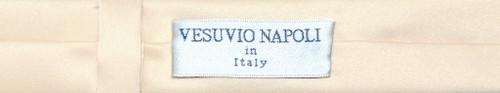 Vesuvio Napoli Narrow NeckTie Extra Skinny Light Brown Mens Neck Tie
