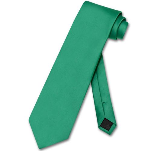 Emerald Green Mens NeckTie | Vesuvio Napoli Solid Color Neck Tie