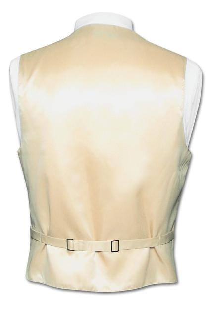 Light Brown Vest And Light Brown NeckTie | Vest And Neck Tie Set