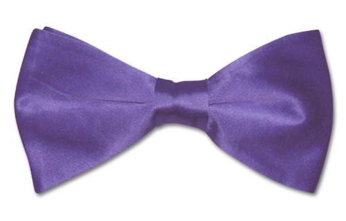 Purple Indigo Mens Bowtie | Biagio Silk Pre Tied Solid Color Bow Tie