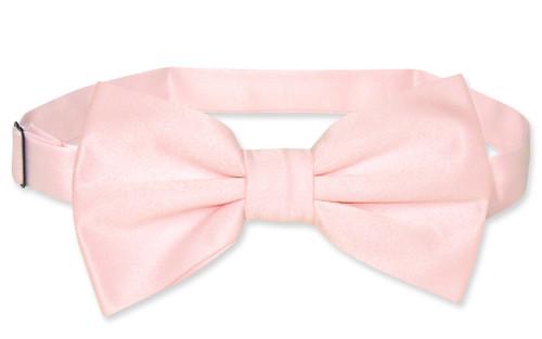 Vesuvio Napoli BowTie Solid Pink Color Mens Bow Tie Tuxedo or Suit