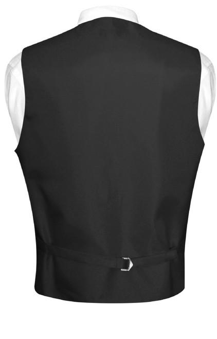 Mens Paisley Design Dress Vest & NeckTie Navy Blue Color Neck Tie Set