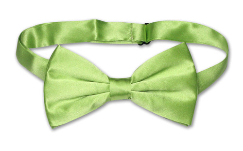 Solid Lime Green Bow Tie | Mens Lime Green Silk Bowtie