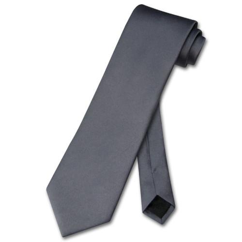 Charcoal Gray Tie   Mens Charcoal Dark Gray Necktie