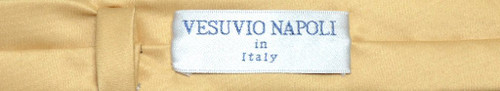 Vesuvio Napoli Narrow NeckTie Extra Skinny Gold Color Mens Neck Tie