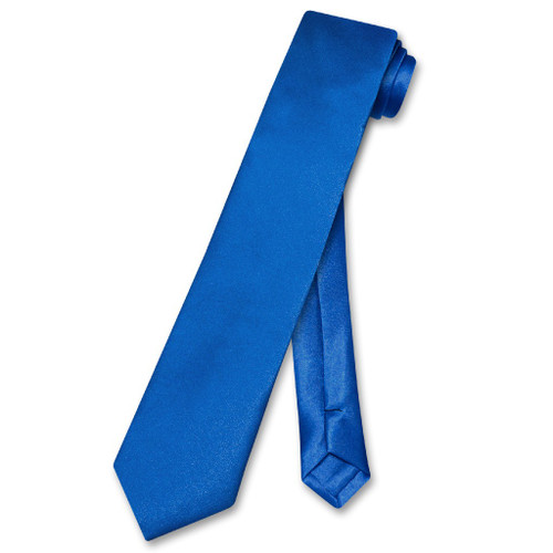 Biagio Boys NeckTie Solid Royal Blue Color Youth Neck Tie