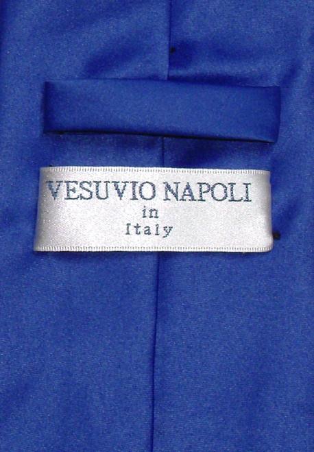 Royal Blue Necktie And Royal Blue Handkerchief Set For Men