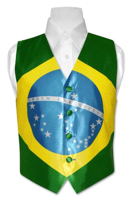 Brazilian Flag Vest   Boys British Flag Vest Size 14