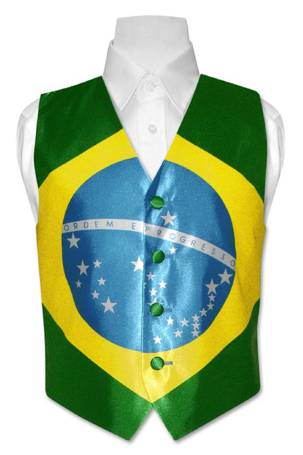 Brazilian Flag Vest | Boys British Flag Vest Size 14