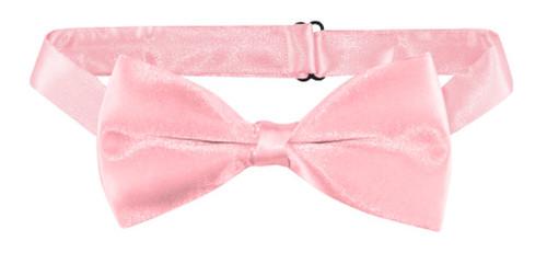 Pink Pretied Bow Tie | Mens Solid Pink Color Pre Tied Bow Tie