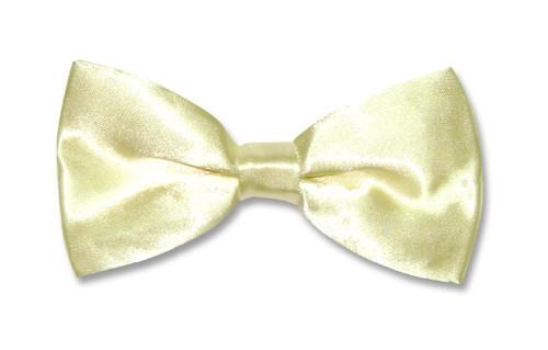BowTie Solid Light Yellow Color Mens Bow Tie Tuxedo or Suit