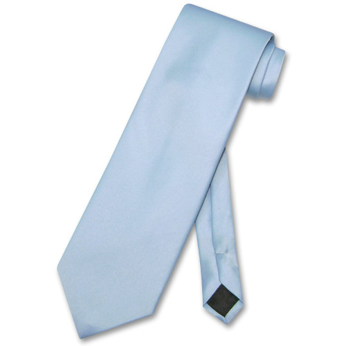 Baby Blue Mens NeckTie | Vesuvio Napoli Solid Color Mens Neck Tie
