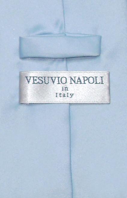 Baby Blue Mens NeckTie | Vesuvio Napoli Solid Color Mens Neck Tie
