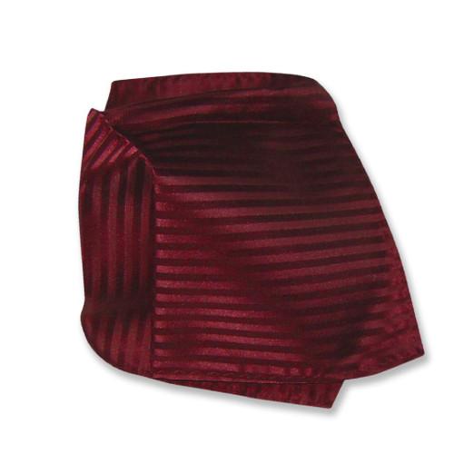 Mens Dress Vest & NeckTie Burgundy Color Vertical Striped Neck Tie Set