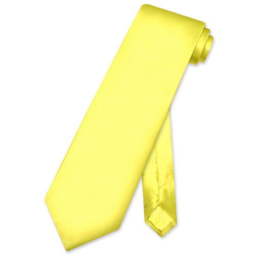 Biagio 100% Silk NeckTie Solid Yellow Color Mens Neck Tie