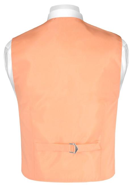 Boys Dress Vest Bow Tie Solid Peach Color Vest and BowTie Set