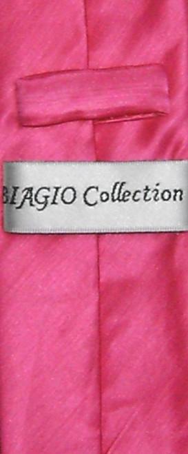 Biagio Bamboo Silk Narrow NeckTie Skinny Hot Pink Fuchsia Men Neck Tie