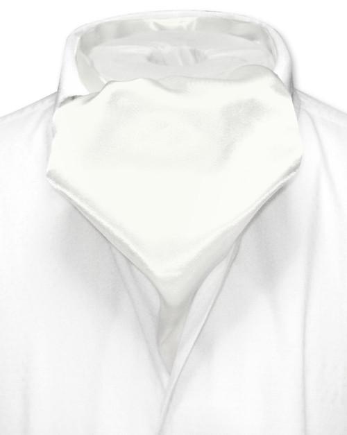 Off-White Cravat Tie   Biagio Ascot Solid Color Mens NeckTie