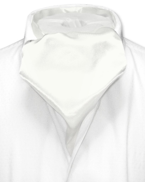 Off-White Cravat Tie | Biagio Ascot Solid Color Mens NeckTie