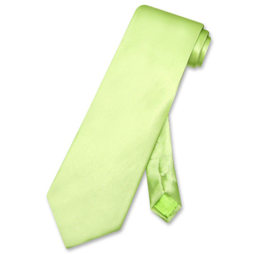 Biagio 100% Silk NeckTie Solid Lime Green Color Mens Neck Tie