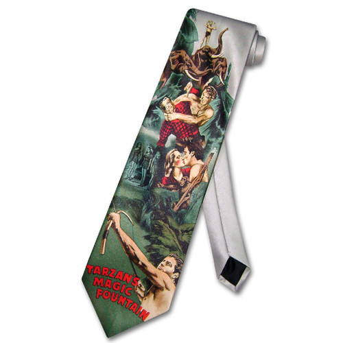 Tarzans Magic Fountain Tie | Ralph Marlin Tarzan Necktie