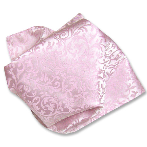 Antonio Ricci Mens Paisley Dress Vest Bow Tie Pink BowTie Set sz 3XL