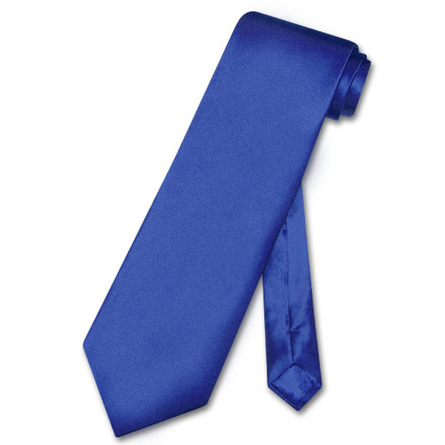 Biagio 100% Silk NeckTie Solid Royal Blue Color Mens Neck Tie