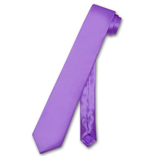 Biagio 100% Silk Narrow NeckTie Skinny Purple Indigo Color Mens Tie