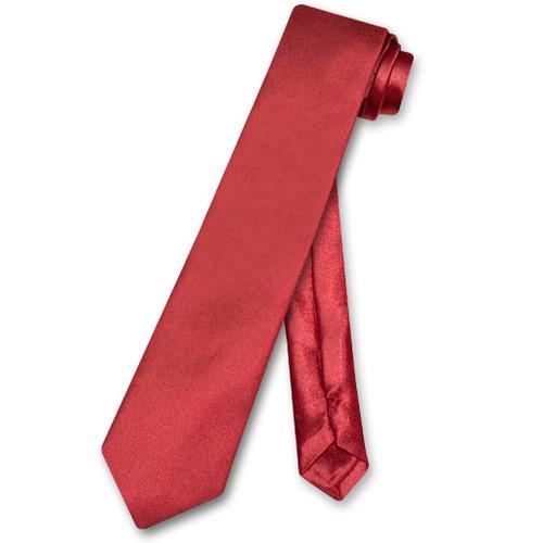 Biagio Boys NeckTie Solid Burgundy Color Youth Neck Tie