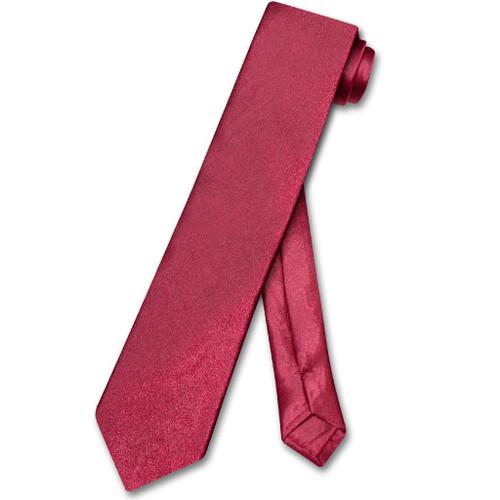 Biagio Boys NeckTie Solid Dark Red Color Youth Neck Tie