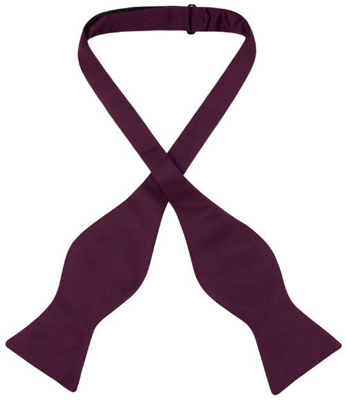 Vesuvio Napoli Self Tie Bow Tie Eggplant Purple Color Mens BowTie