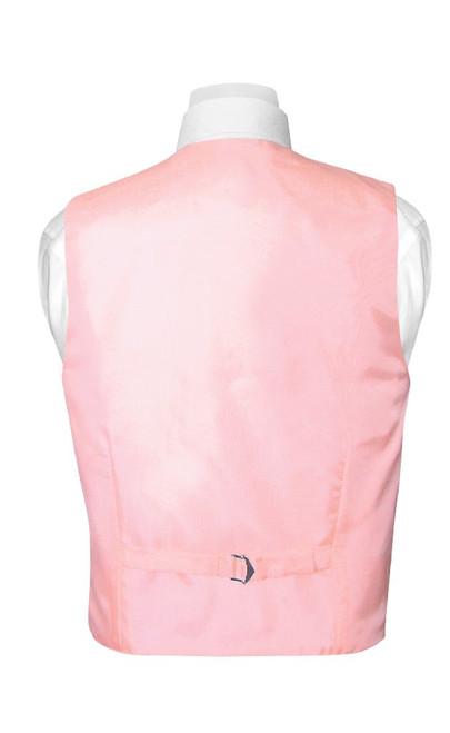 Boys Dress Vest Bow Tie Solid Pink Color BowTie Set