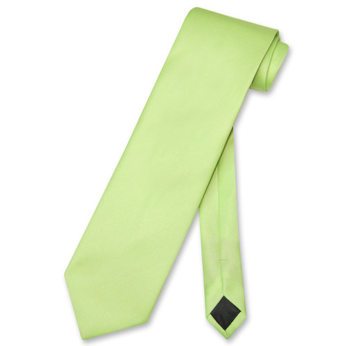 Lime Green Mens NeckTie | Vesuvio Napoli Solid Color Mens Neck Tie