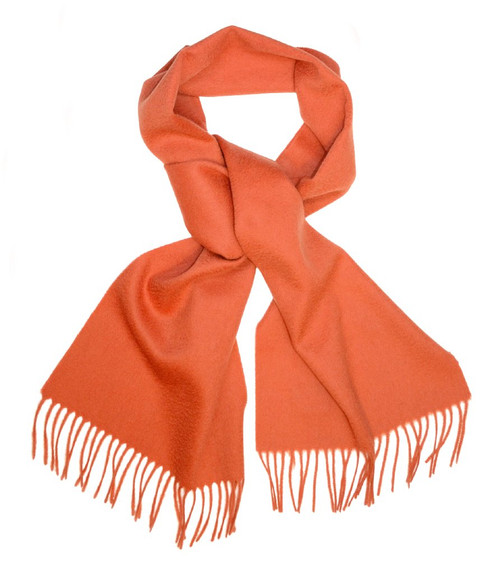Burnt Orange Wool Neck Scarf | Biagio 100% Wool Neck Scarve