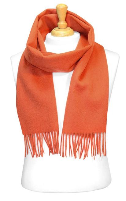 Burnt Orange Wool Neck Scarf | Biagio 100% Wool Neck Scarve