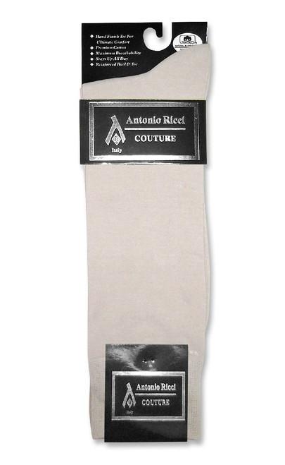 Silver Grey Mens Dress Socks | 1 Pair of Antonio Ricci Cotton Socks