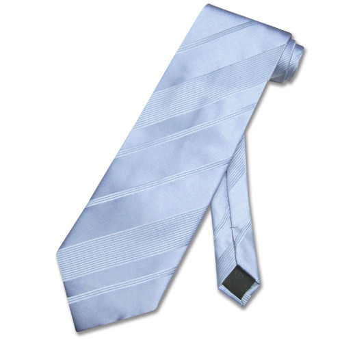 Vesuvio Napoli NeckTie Baby Blue Woven Striped Design Mens Neck Tie