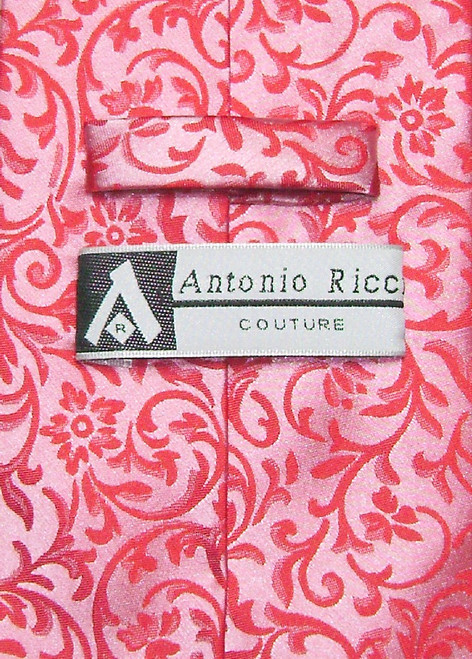 Antonio Ricci Mens Paisley Dress Vest NeckTie Red Neck Tie Set sz Sm